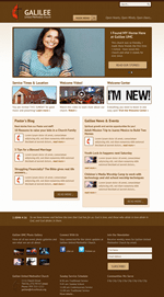 Brown Church Website Template Theme Screenshot