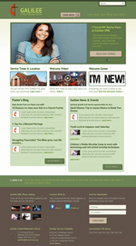 Green Church Website Template Theme Screenshot