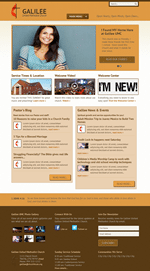 Orange Church Website Template Theme Screenshot