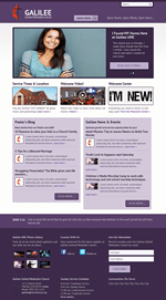Purple Church Website Template Theme Screenshot