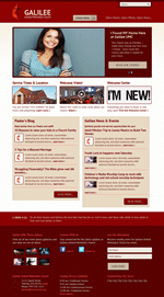 Red Church Website Template Theme Screenshot