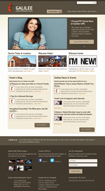 Taupe Church Website Template Theme Screenshot