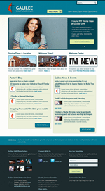 Turquoise Church Website Template Theme Screenshot
