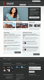 Black Church Website Template Theme Screenshot