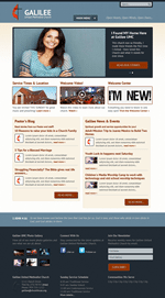 Blue Church Website Template Theme Screenshot