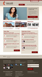 Grey/Red Church Website Template Theme Screenshot