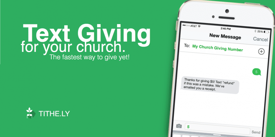 Tithely Online Giving via Text