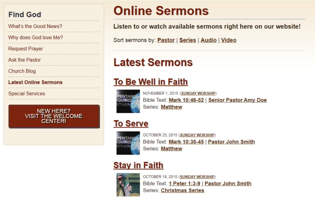 Sermon Manager Plugin