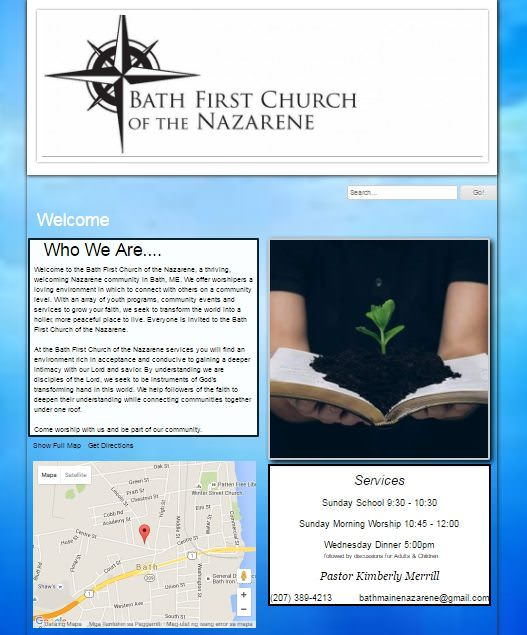 Bath FIrst Church of the Nazarene Homepage