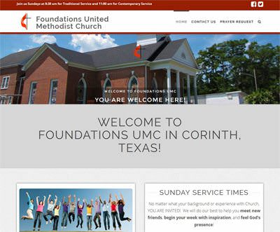Foundation Methodist Church Website Template/Theme